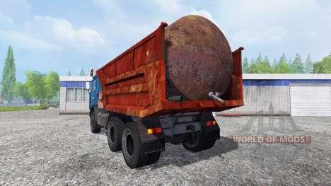KamAZ 55111 para Farming Simulator 2015