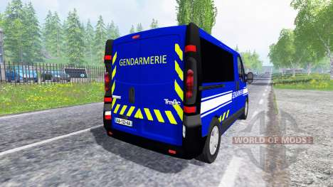 Renault Trafic Gendarmerie para Farming Simulator 2015