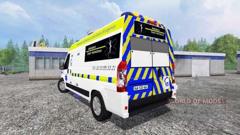 Peugeot Boxer Ambulance para Farming Simulator 2015