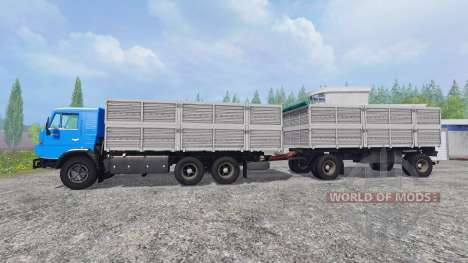 KamAZ-53212 [tráiler] para Farming Simulator 2015
