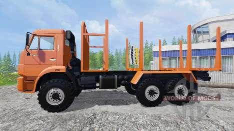 KamAZ-43118 [de madera] para Farming Simulator 2015
