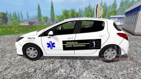 Peugeot 308 Ambulance para Farming Simulator 2015