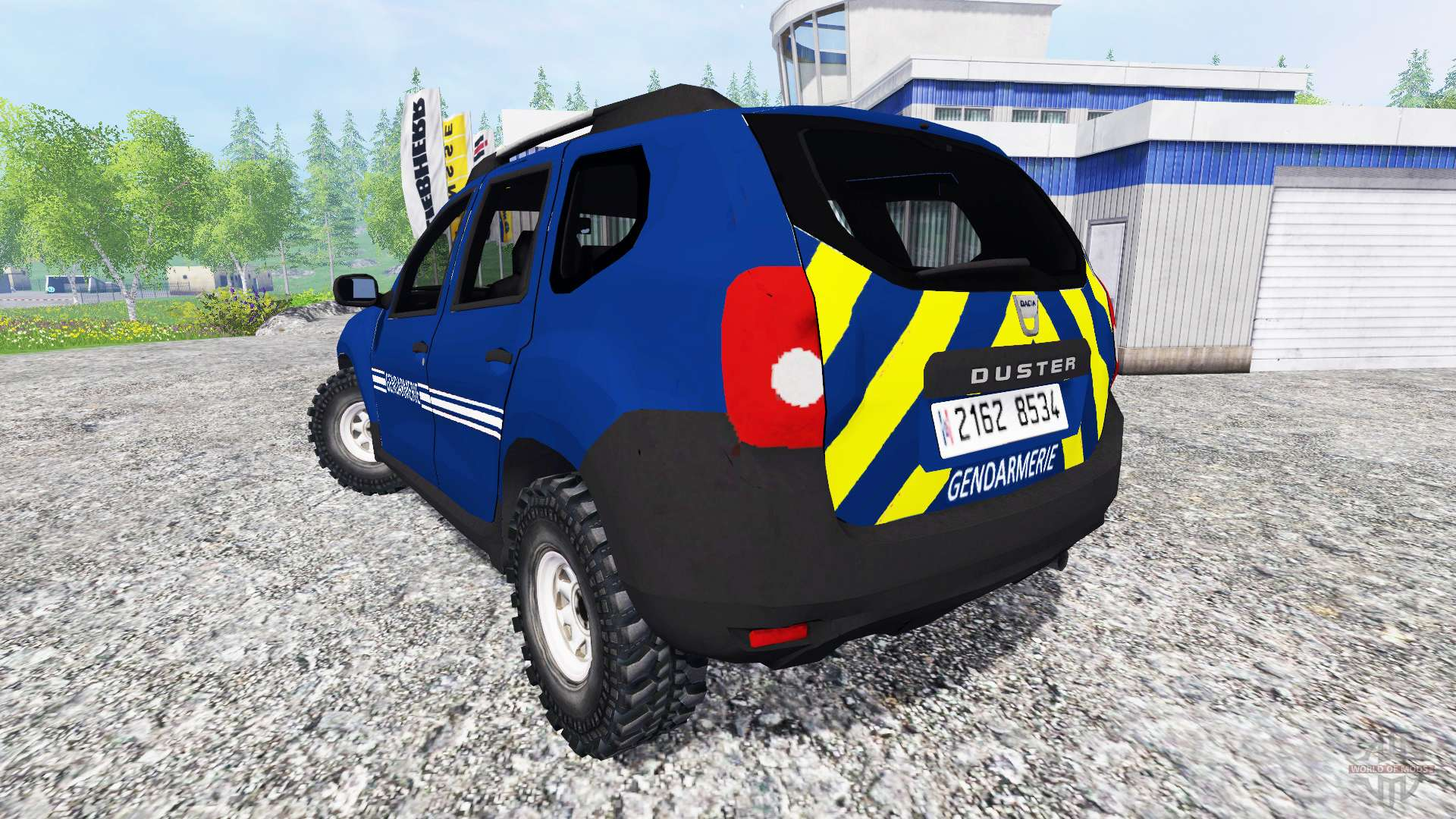 dacia duster gendarmerie para farming simulator 2015. Black Bedroom Furniture Sets. Home Design Ideas