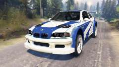 BMW M3 (E46) GTR [Most Wanted] para Spin Tires