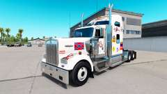 La piel de MS en el camión Kenworth W900 para American Truck Simulator