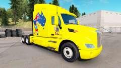 La piel de canguro para el camión Peterbilt para American Truck Simulator