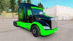 Monster Energy de la piel para el camión Peterbilt para American Truck Simulator