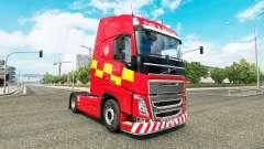 La piel de Incendio Y Rescate en Volvo trucks para Euro Truck Simulator 2