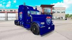 La piel de la carretera Interstate 95 Peterbilt 389 camión para American Truck Simulator