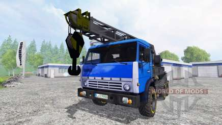 Grúa de KAMAZ v2.2 para Farming Simulator 2015