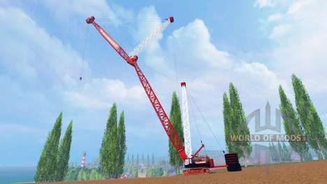 400 la tonelada grúa de oruga para Farming Simulator 2015