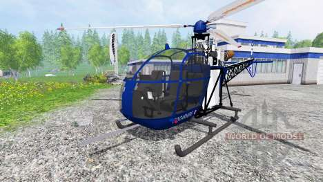 Sud-Aviation Alouette II Gendarmerie para Farming Simulator 2015