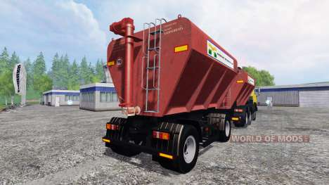 KamAZ-54115 Uploader y sembradoras de remolque para Farming Simulator 2015