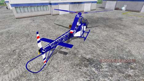 Sud-Aviation Alouette II Police para Farming Simulator 2015