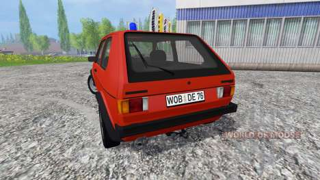 Volkswagen Golf I GTI [feuerwehr] para Farming Simulator 2015