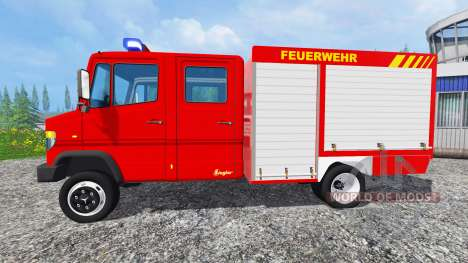 Mercedes-Benz Vario 818 D [feuerwehr] v0.9 para Farming Simulator 2015