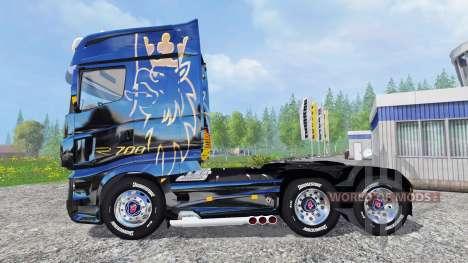 Scania R700 [blue black] para Farming Simulator 2015