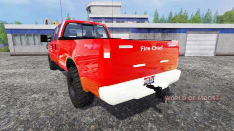 Ford F-350 American Fire Chief para Farming Simulator 2015
