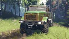 KrAZ-7140 v5.0 para Spin Tires
