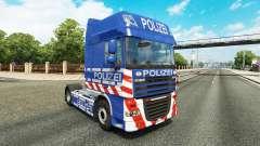 La policía de la piel para DAF camión para Euro Truck Simulator 2