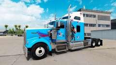 La piel del Capitán América en el camión Kenworth W900 para American Truck Simulator