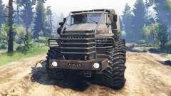 Ural-4320-10 de Tunguska v2.0 para Spin Tires