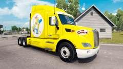 Los Simpsons de la piel para el camión Peterbilt para American Truck Simulator