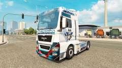 La piel de la CE Kassel Huskies en el tractor HOMBRE para Euro Truck Simulator 2