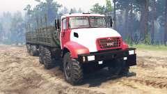 Kraz-65032 2012 para Spin Tires