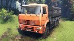 KamAZ-6522 v7.0 para Spin Tires