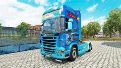 La piel need For Speed Hot Pursuit en el tractor Scania para Euro Truck Simulator 2