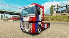 La piel de Copa de Francia 2014 en una unidad tractora Renault para Euro Truck Simulator 2