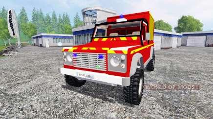 Land Rover Defender 110 Pickup sapeurs-pompiers para Farming Simulator 2015