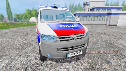 Volkswagen Transporter T5 Police v2.0 para Farming Simulator 2015