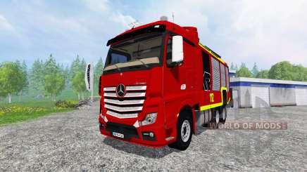 Mercedes-Benz Actros [reuerwehr] para Farming Simulator 2015
