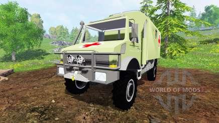 Mercedes-Benz Unimog U2150 (437) Medical v1.1 para Farming Simulator 2015