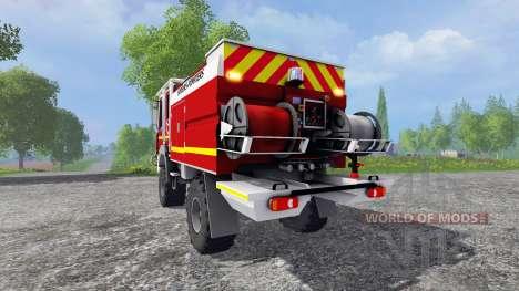 Renault Midlum Crew Cab 4x4 2009 [firetruck] para Farming Simulator 2015