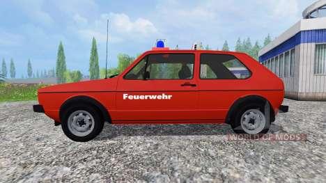 Volkswagen Golf I GTI [feuerwehr] v2.0 para Farming Simulator 2015