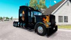 Ghost Rider de la piel para el camión Peterbilt 389 para American Truck Simulator