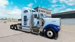 La piel de la UNC Tarheel v1.01 en el camión Kenworth W900 para American Truck Simulator