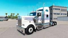 De la piel a Rayas Clásicas en el camión Kenworth W900 para American Truck Simulator