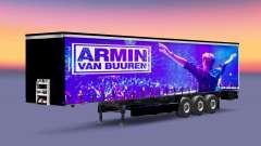 La piel de Armin van Buuren en el remolque para Euro Truck Simulator 2
