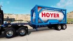 El semirremolque-el contenedor de camión con tanque contenedor para American Truck Simulator