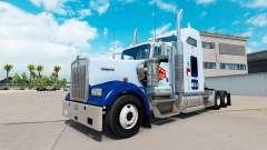 La piel de la UNC Tarheel en el camión Kenworth W900 para American Truck Simulator