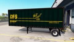 Semi-remolques real con los logotipos de la compañía para American Truck Simulator