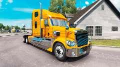 La piel Metálica del camión Freightliner Coronado para American Truck Simulator