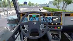 El color azul de los dispositivos tienen un Kenworth W900 para American Truck Simulator