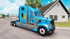 La piel de a&R en el camión Freightliner Coronado para American Truck Simulator