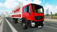 Una colección de camiones de transporte para el tráfico de v1.2.1 para Euro Truck Simulator 2