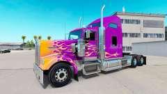 La piel de California Llamas en el camión Kenworth W900 para American Truck Simulator